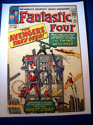 1964 * FANTASTIC FOUR #26 * Marvel Comics est 6.5 FN+ * Off WHITE Pages AVENGERS