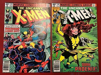 X-Men #133 & 135 Lot Of 2 Marvel Comics Nm