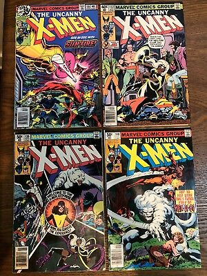X-Men #118 132 139 140 Lot Of 4 Marvel Comics Fn