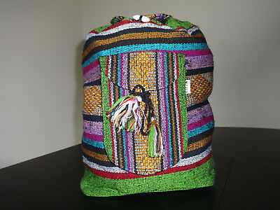 Beach Mexican Hippie Baja Tote Ethnic Backpack Indian Bag, Blanket, purse Green
