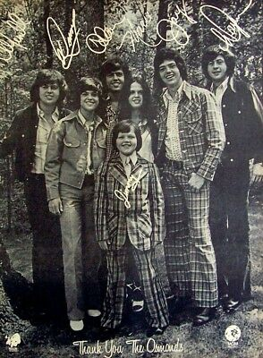 THE OSMONDS 1973 original POSTER ADVERT THANKS the plan Donny Marie Osmond