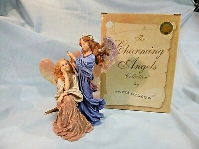 Boyds Charming Angels Collection Guinevere & Felicity Guardian Of Friends  #58