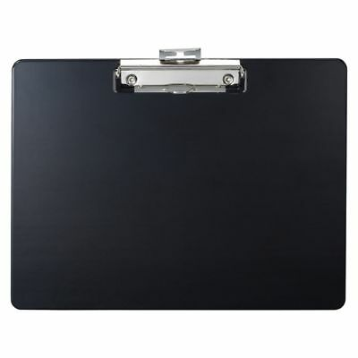 """Officemate Landscape Plastic Clipboard, 9"""" x 12 1/2"""" x 1/2"""", 60% Recycled, Black"""