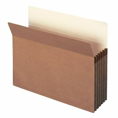 """Smead Workhorse 5 1/4"""" Expanding File Pockets, 9 1/2""""x11 3/4"""", Redrope, 10-Pk"""