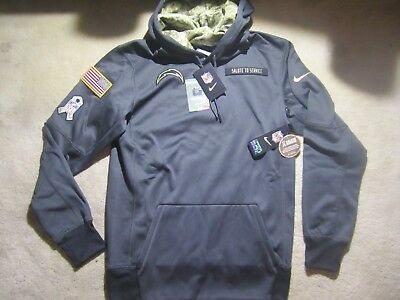 BNWT Nike L.A. Chargers Salute to Service on Field Hoodie Size S