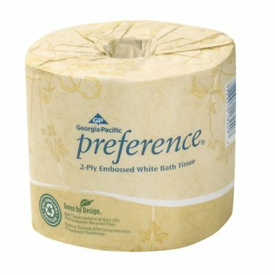 Georgia-Pacific Preference® Embossed Bathroom Tissue, 550 Sheets Per Roll, Case