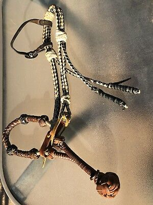 Rope Bosal / Loping Hackamore - best lookin' one out there! On braided headstall