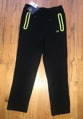 GapFit Kids Pull-On Active Sport Pants, Black Neon Green, Medium, New with Tags!