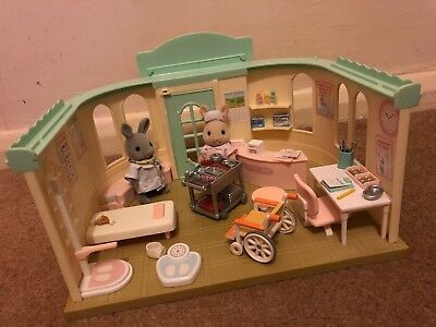 Sylvanian Families Country Clinic Toy Gift Set Bundle Plus Calico Critters Extra