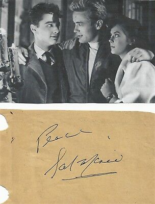 Sal Mineo - Vintage In Person Genuine Hand Signed Album Page With Image...rare