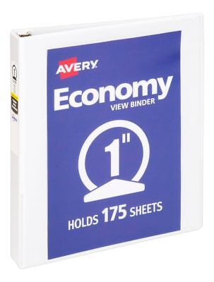 """Avery® Economy View Binder With Round Rings, 8 1/2"""" x 11"""", 1"""" Rings, 40%"""