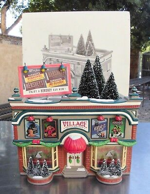 """DEPARTMENT 56 (54913) HERSHEY'S CHOCOLATE SHOP from the """"Original Snow Village"""""""