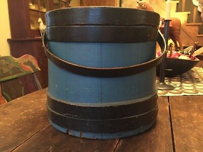 Antique Painted Pine Firkin Signed And Dated 1836 Aafa