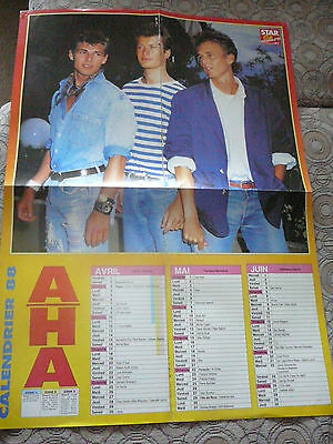 LOT OF 6 A-HA MAGAZINE CLIPPINGS CUTTINGS FROM THE '80s + 2 POSTERS