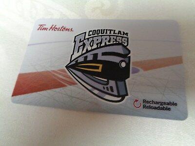 Tim Horton's - BCHL - COQUITLAM EXPRESS - Gift Card 2018 - New, Unused - FD57089