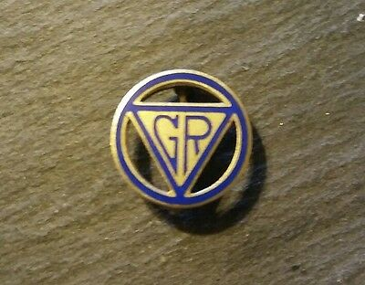 Vintage YWCA Girl Reserves Pin, Pre 1950 GR in Triangle Logo, Silver, Official