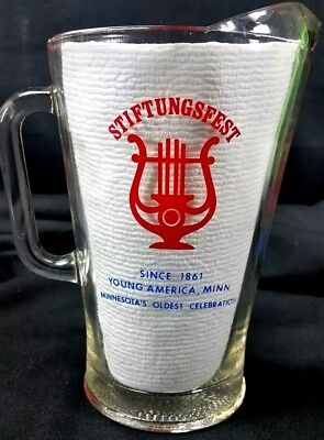 Stiftungsfest Schmidt Beer Glass Pitcher Young America MN Norwood festival