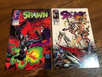 Spawn #1 & 9 Lot Of 2 Image Comics Nm