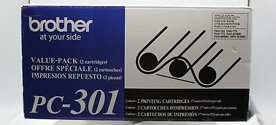Genuine Brother Fax Cartridge 2 pack, Model No. PC-301