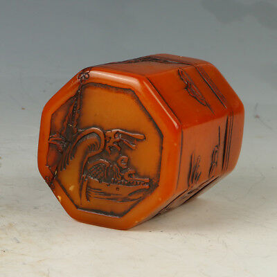 Chinese Exquisite Hand-carved  landscape pattern carving Shoushan Stone seal