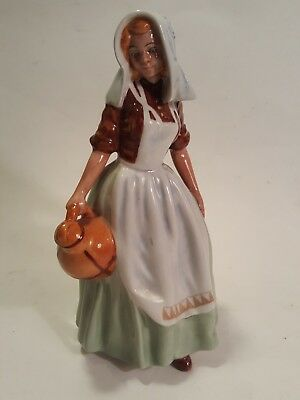 Vintage Royal Doulton  THE MILKMAID  Figurine - Made in England - 1949