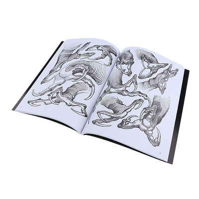 190 PAGES Chine Claws Design Croquis Flash Book Manuscript Tattoo Supplies