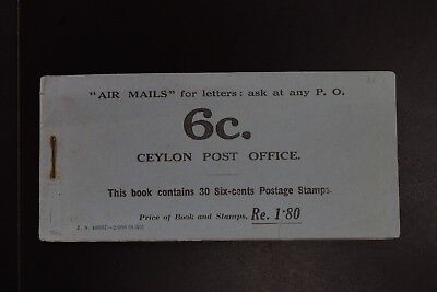 rare Ceylon 1935 Rs$1.80 KGV Jubilee VF MNH complete booklet 5panes of 6 (v162)