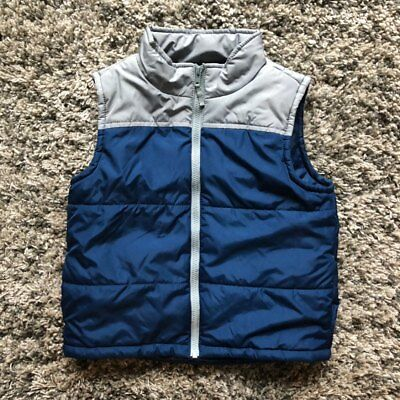 GYMBOREE boys Puffer  Warm Vests Blue Maroon Gray  12-24 4 5 6 7 8