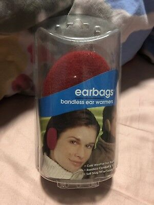 Sprigs Earbag Bandless Red Fleece Ear Warmer MEDIUM Polartec Insulate Thinsulate