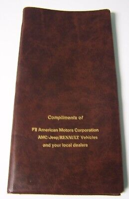Vintage 1980's American Motors Corporation AMC Jeep Renault Folder