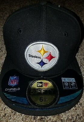 5840736b6a2 Pittsburgh Steelers Ball Cap Hat New Era 59Fifty~NFL On Field~Youth Fitted 6
