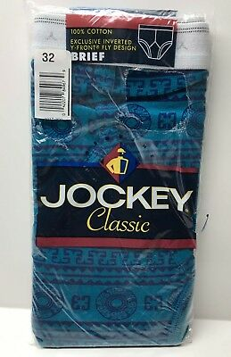 Vintage Men's Jockey Classic Y Front Brief Sz 32 Abstract Design 90s Underwear
