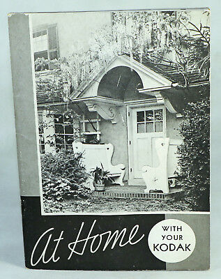 VTG At Home With Your Kodak Soft Cover Stapled Eastman Rochester NY 1930s
