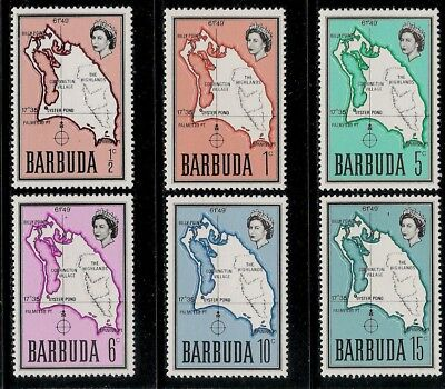 British Colony BARBUDA 1968 Old Mint Stamps - Queen & Barbuda Map