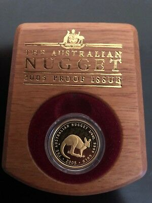 The Australian Nugget Gold Coin Series 2005 Proof Issue 1/4 Oz $25 Kangaroo