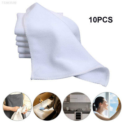 BC6F 10 Pcs/Lot Microfibre Cleaning Cloths Useful White Auto Towel