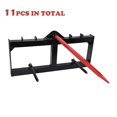 """11PCS 49"""" 3000 LBS  Tractor Hay Spear Attachment Spike Skid Steer"""