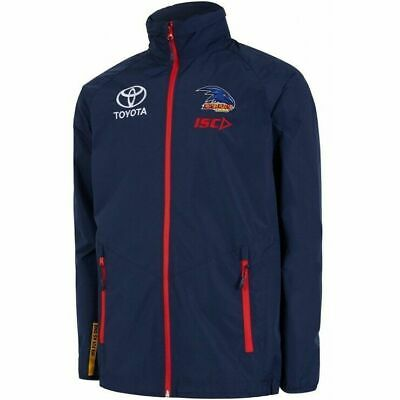 Adelaide Crows AFL 2018 ISC Players Navy Wet Weather Jacket Size S-5XL! In Stock