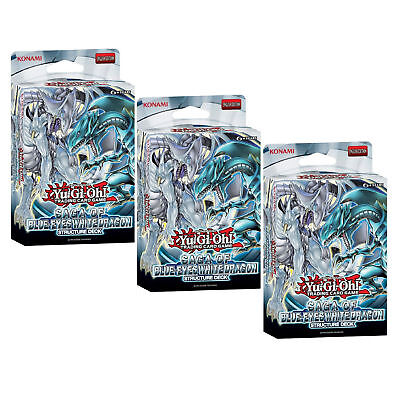 Yugioh - 3 X Saga Of Blue-Eyes White Dragon Structure Deck Flat Packed Boxes Inc