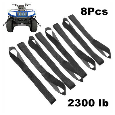 Exterior 4 Packs Soft Loop Tie Down Straps 2279Lb Break Strength Motorcycle UTV