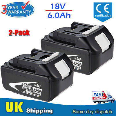 2x For 18V Makita BL1840 18 Volt 4.0Ah LXT Li-Ion Cordless Battery BL1860 BL1850