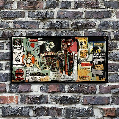 """48x24 inches Jean-Michel Basquiat """"Notary"""" HD large print on canvas wall art"""