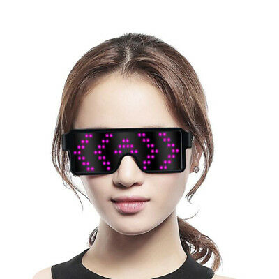 EL Wire LED Glasses Light Up Glow Flashing Xmas Party SunGlasses Decorative Gift