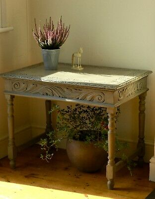 Antique Gustavian Style Hand Painted Table