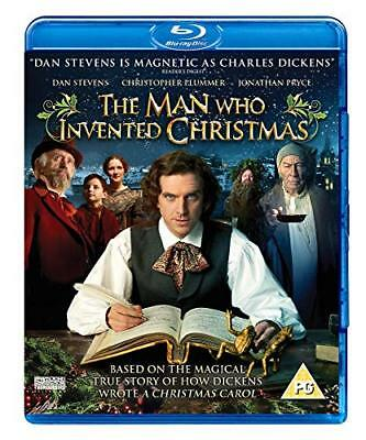 The Man Who Invented Christmas  with Dan Stevens New (Blu-ray  2017)