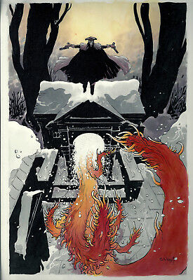 CHARLES VESS - The Marquis: Danse Mcababre #3 Original Cover Art Oni Press