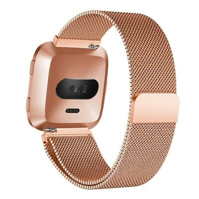 For Fitbit Versa Sport Watch Band Replacement Milanese Magnetic Clasp Stain J8Y5