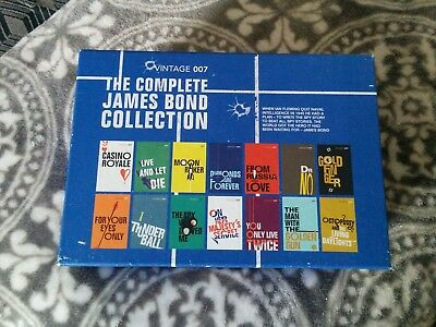 Complete James Bond Vintage 007 Book Collection Ian Fleming Box Set Of 14 Books