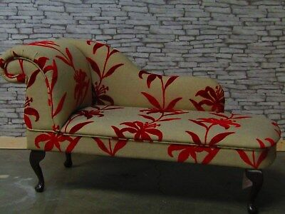 Sale Item Red Floral Chaise Longue