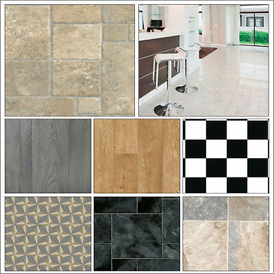 Clearance Anti Slip Vinyl Flooring Lino Roll End Off Cut Bathroom Kitchen CHEAP!